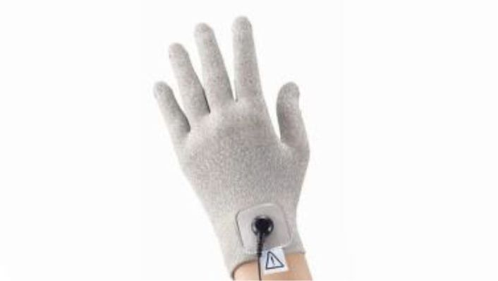 Pair of gloves - textile electrode